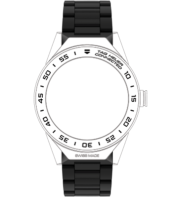 BRACCIALE TAG HEUER CONNECTED MODULAR 45 CERAMICA