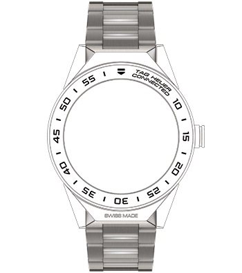BRACCIALE TAG HEUER CONNECTED MODULAR 45 TITANIO